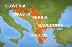 serbia macedonia grecia albania bosnia, croatia bulgaria
