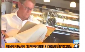 Klaus Iohannis aeroport