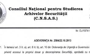 adeverinta CNSAS