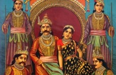 Draupadi_and_Pandavas