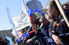 sindicalisti protest