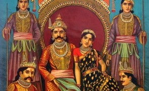 Draupadi_and_Pandavas