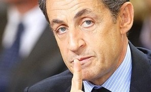 Nicolas Sarkozy on visit in Bordeaux