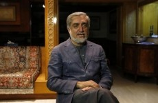 Afghan presidential candidate Abdullah speaks during an interview in Kabul