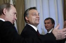 Russian Prime Minister Vladimir Putin meets with Hungarian Prime Minister Viktor Orban