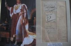 autografe napoleon