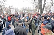 protest sindicalisti