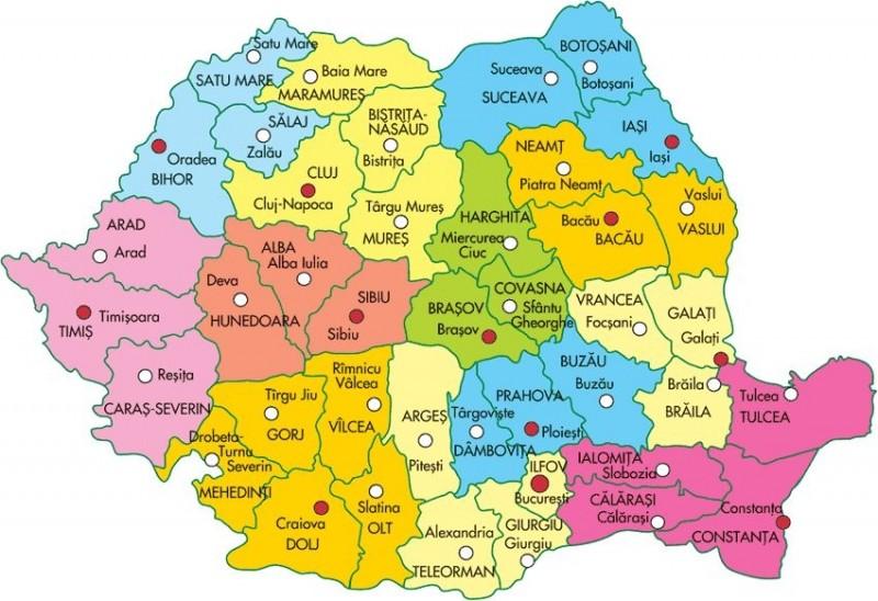 Harta Resita Harta Romaniei