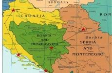 serbia croatia bosnia muntenegru slovenia kosovo