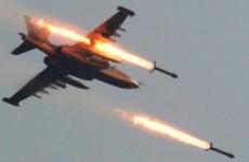 avion rachete atac