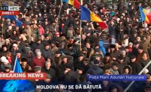 protest moldova chisinau