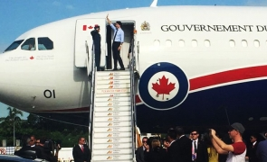 Justin Trudeau avion