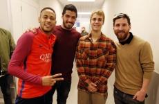 Messi, Suarez, Bieber, Neymar