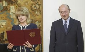 Inquam Traian Băsescu Maria Basescu depunere juramant moldova
