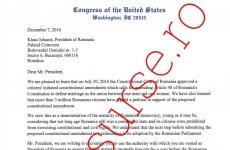 scrisoare congress
