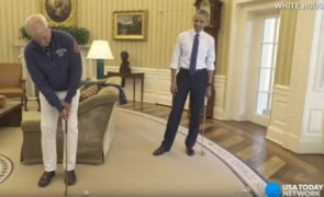 Obama Bill Murray golf