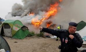 foc tabara de migranti