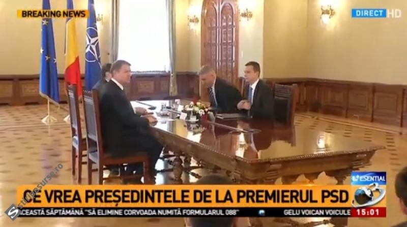 Thumbnail for Cum l-a primit Klaus Iohannis pe Sorin Grindeanu la Cotroceni / VIDEO