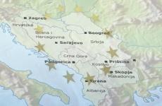 Balcani Kosovo Serbia Bosnia Albania Muntenegru Macedonia Croatia