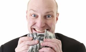zgârcit, bani, lei, dolari