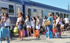 tren studenți