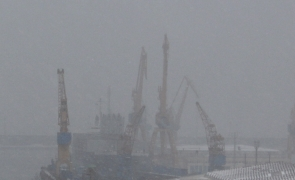 ceață port mare