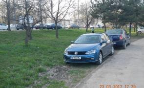 mașina parcată ilegal