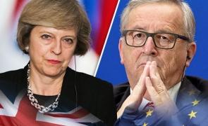 Jean-Claude Juncker si Theresa May