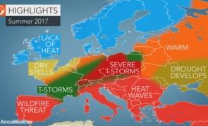 hartă căldură vară