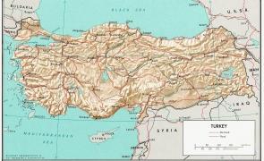 turcia, harta