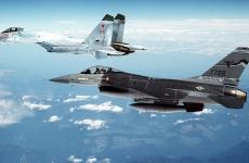 Su-27, F-16