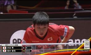 Tomokazu Harimoto tenis de masa