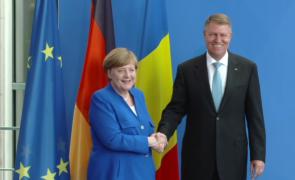 Klaus Iohannis Angela Merkel
