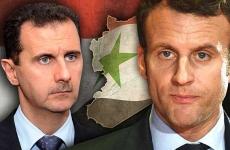 macron Bashar al-Assad