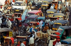 trafic, india