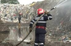 incendiu groapa gunoi resita
