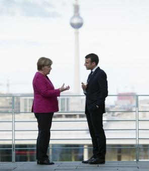 Angela Merkel și Emmanuel Macron
