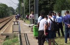 accident tren Branesti peron
