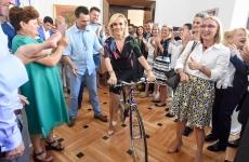 Gabriela Firea bicicleta