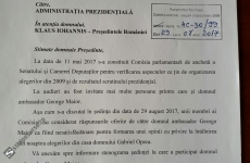document comisie iohannis