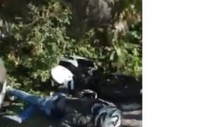 motociclist accidentat