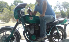motociclist bere