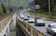 trafic blocat, DN 1A, mașini