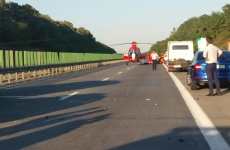 accident autostrada elicopter