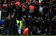 tribună prăbușită meci Franța