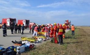 exercițiu incendiu aeroport Otopeni