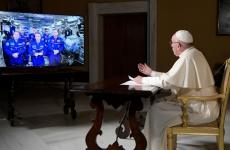 Papa Francisc conversatie astronauti ISS