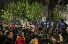 proteste rezist Jandarmi calare cai