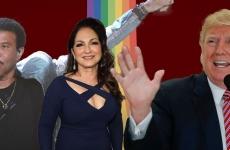 Lionel Richie Gloria Estefan Donald Trump