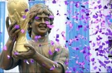 statuie Maradona India
